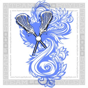 Lacrosse Flourish Logo Clipart Ornate Design