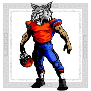 Football Wildcat Mascot Clipart Vector Image