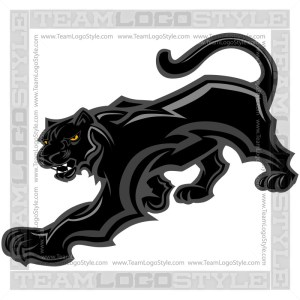 Panther Graphic - Team Mascot Logo