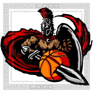 Titan Basketball Graphic - Vector Clipart Design