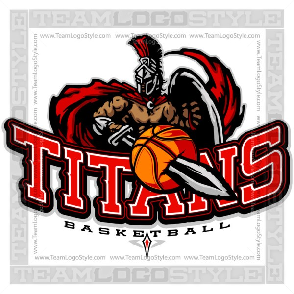 Titans Basketball Logo - Clipart Image