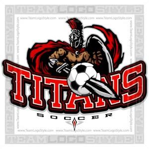 Titans Soccer Logo - Clipart Image