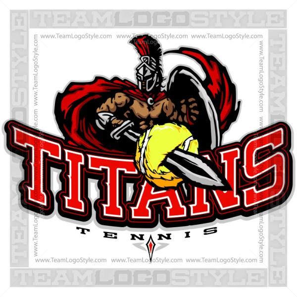 Titans Tennis Logo - Clipart Image