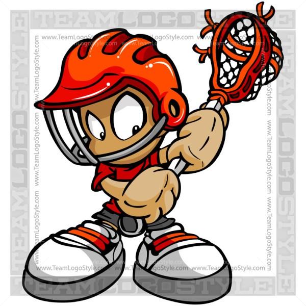 Cartoon Lacrosse Boy Vector Cartoon Image
