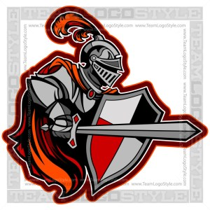 Crusader Logo - Knight Vector Mascot Graphic