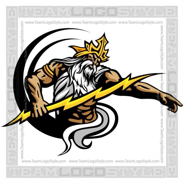 Greek God Clipart - Vector Clipart Greek god, Zeus