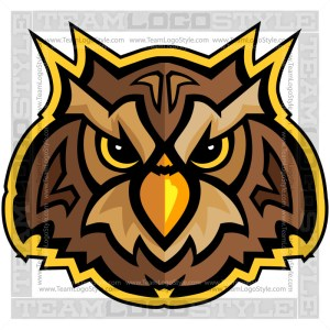 Owl Head - Vector Mascot Graphic