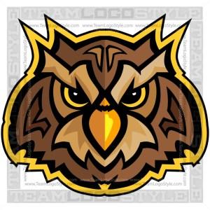 Owl Head - Vector Mascot Graphic