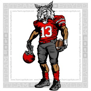 Wildcat Football Player Vector Image