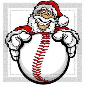 Christmas Baseball Clipart - Santa Claus