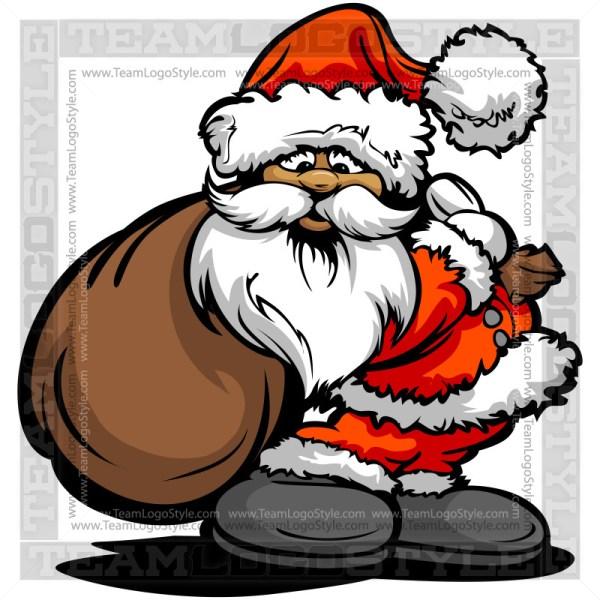 Santa Claus Holding Bag Clipart