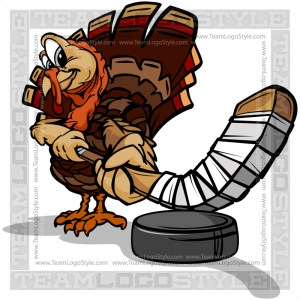 Ice Hockey Turkey Bird Clipart Image
