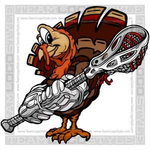 Turkey Holding Lacrosse Stick Clipart Image