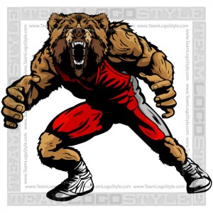 Bear Wrestler Clip Art