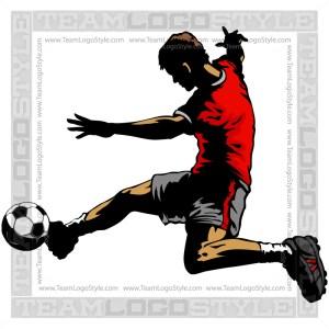 Soccer Kick Clip Art - Silhoette Graphic