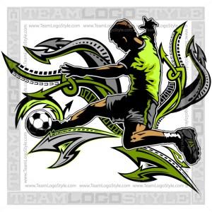 Soccer Player Clip Art Design