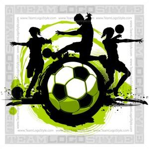 Soccer Design - Silhouette Clip Art