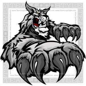Wildcat Team Mascot - Clip Art Cartoon