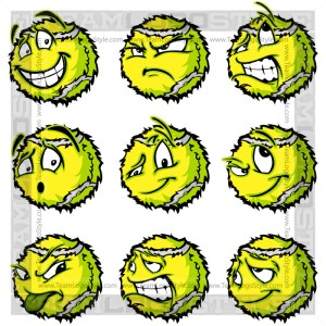 Happy Tennis Ball Clip Art Cartoon