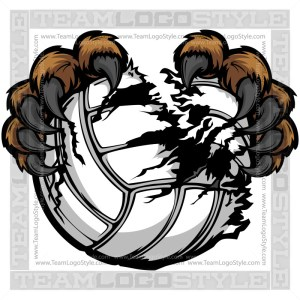 Clip Art Volleyball Bear Claws