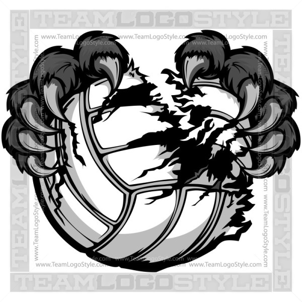 Clip Art Volleyball Panther Claws