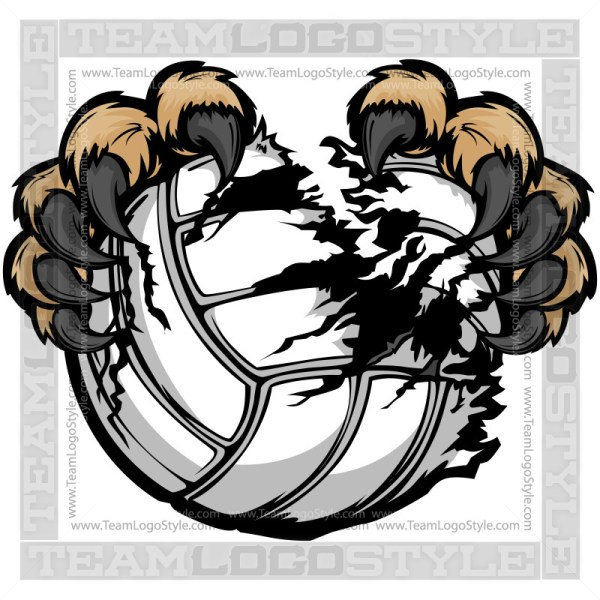Clip Art Volleyball Wildcat Claws