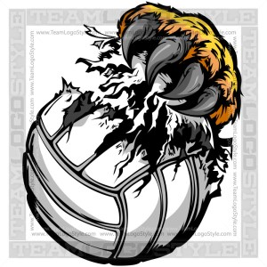 Lion Claw Tearing Volleyball