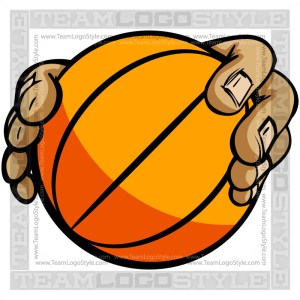 Hands Holding Basketball Cartoon