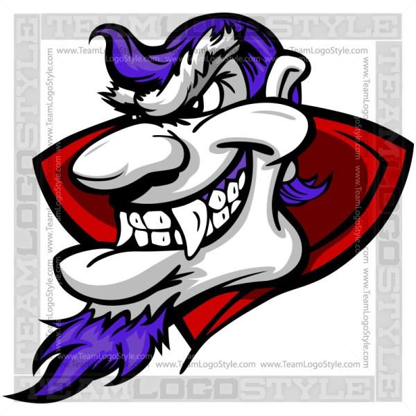 Cartoon Vampire Head Clip Art Image