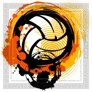 Vector Distressed Volleyball Design