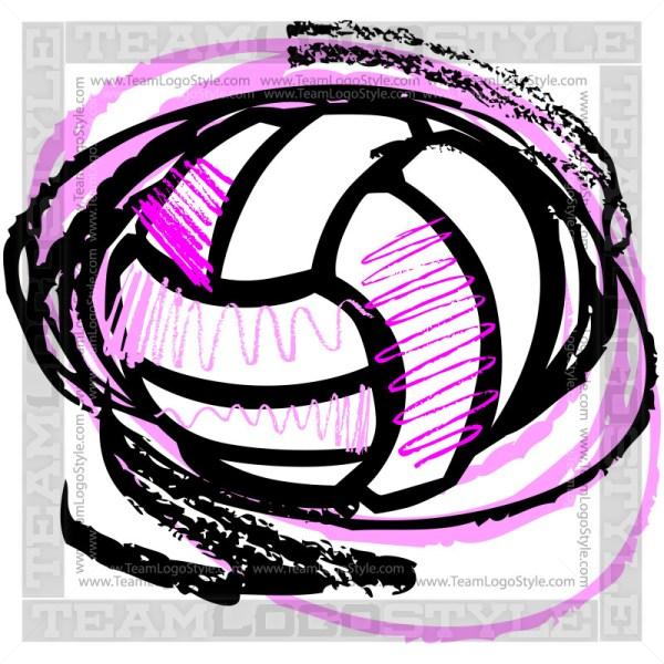 Vector Volleyball Sketch