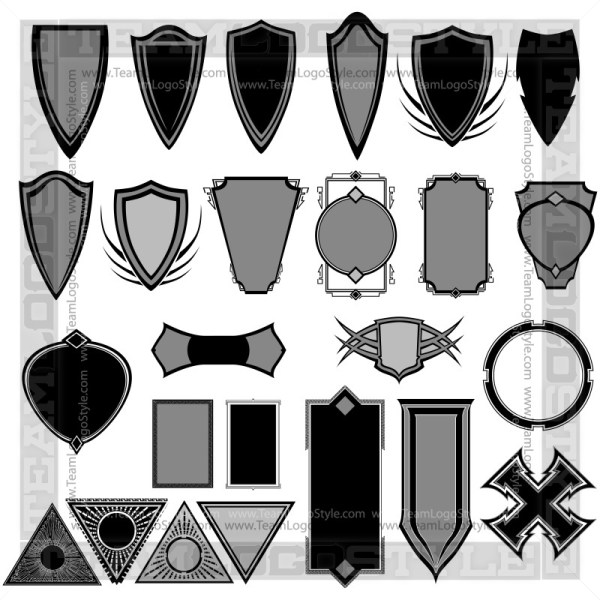 Vector Shield Elements - T-Shirt Design Set