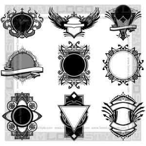 Ornate Vector Backgrounds  - T-Shirt Design Set