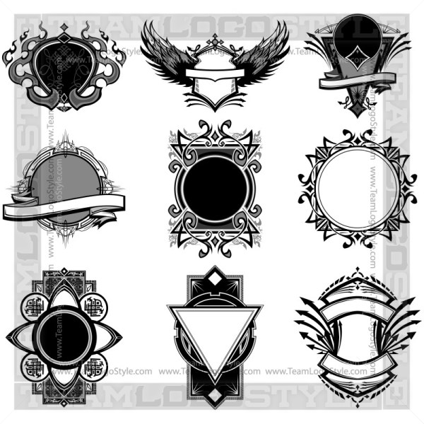 Ornate Vector Backgrounds  - T-Shirt Design Set