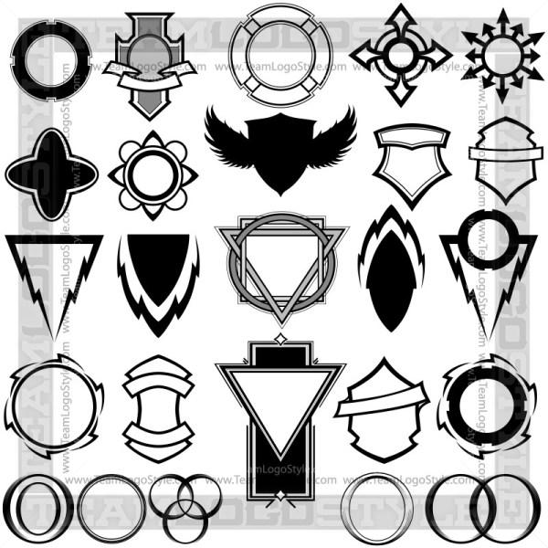 Shield Graphic Elements - T-Shirt Design Set