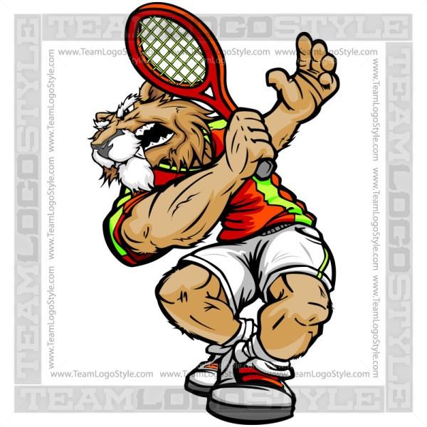 Cougar Tennis Clipart