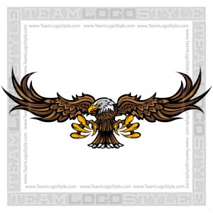 Clip Art Eagle - Vector Mascot Graphic