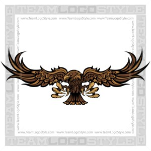 Clip Art Hawk - Vector Mascot Graphic