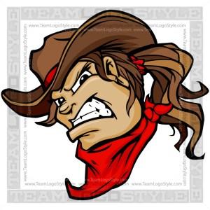 Cowgirl Mascot - Clip Art Cartoon Image