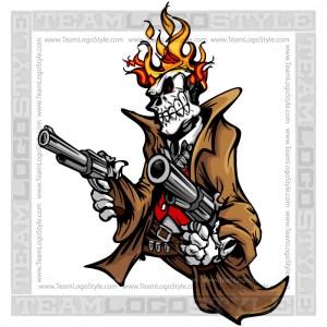Ghostrider Cartoon Clip Art Image
