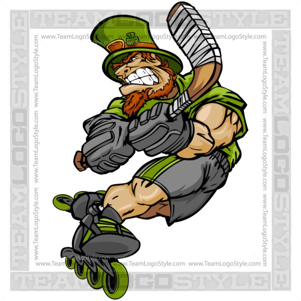 St Patricks Day Roller Hockey - Leprechaun