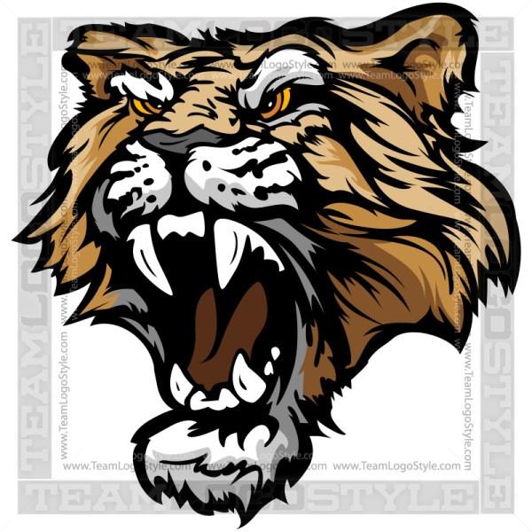 Cougar Graphic - Clip Art Mascot