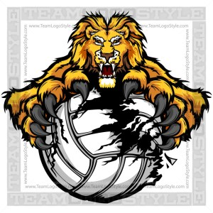 Lion Volleyball Graphic
