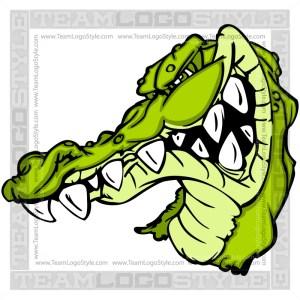 Gator Mascot Graphic Clip Art Image