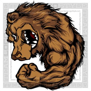 Strong Bear Clipart - Cartoon Mascot