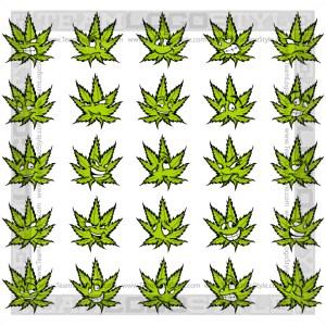 Happy Marijuana Leaf Clip Art