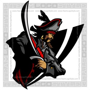 Vector Pirate Graphic Clip Art Image