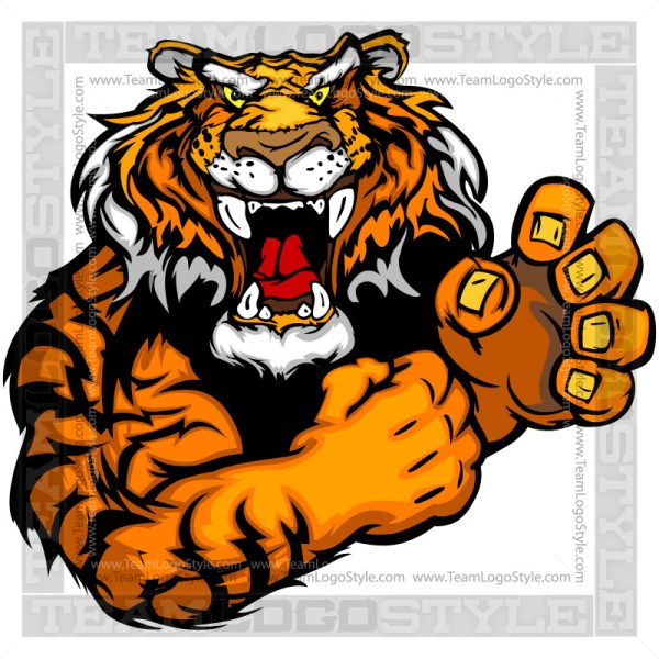 Cartoon Tiger Mascot