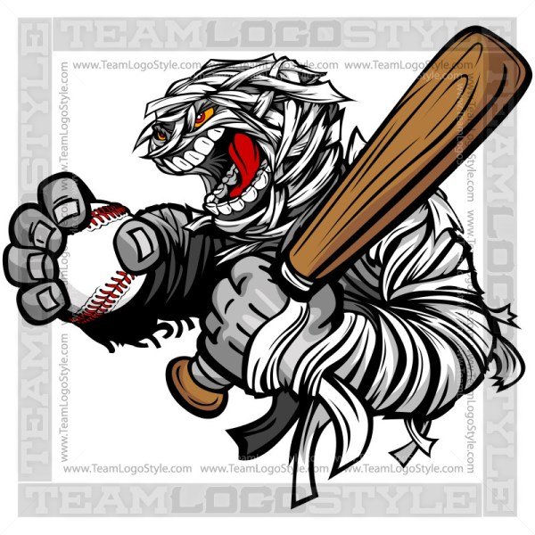 Mummy Baseball Clip Art