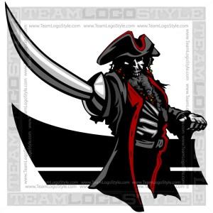 Pirate Captain Clip Art - Vector Mascot Graphic